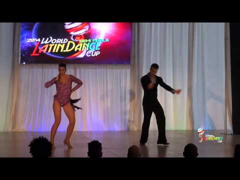 ANDRE BELGA & KATJA BAALMANN, PORTUGAL AND GERMANY, OVER 75, SEMIFINAL ROUND, WLDC 2014