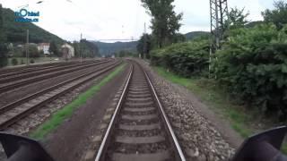 Ústí nad Labem - Nymburk/ POHLED NA TRAŤ Z ČELA SOUPRAVY/ HD KVALITA