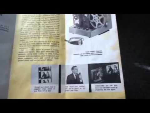 Original Kodak 8mm Movie Projectors Brochure