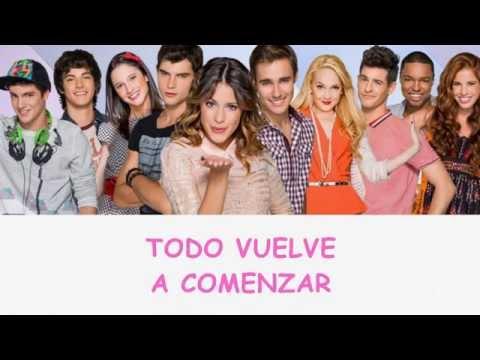 Violetta 2 - Hoy somos mas - Elenco ft. Martina Stoessel (Letra) HQ