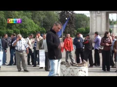 Veteranii și refugiații au protestat la Primărie și Guvern