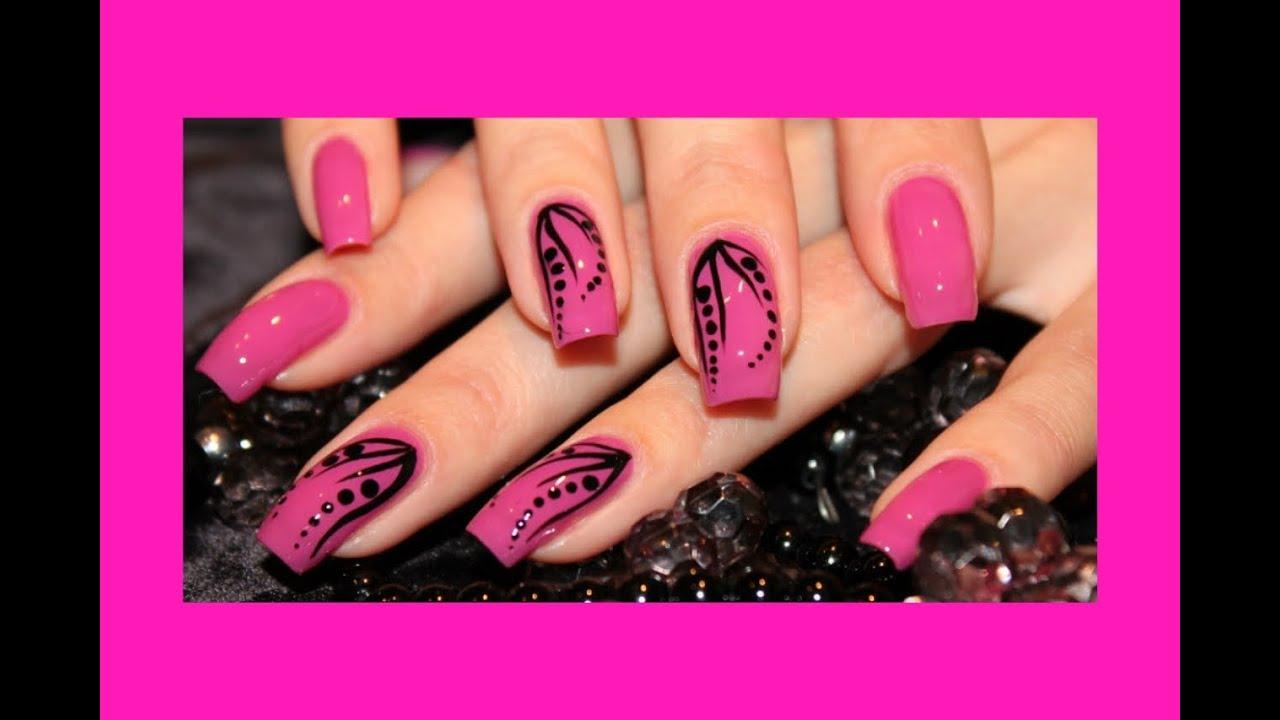 Несложный дизайн ногтей гелем