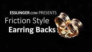 Friction Style Earring Backs - Replacement Gold Earring Back
