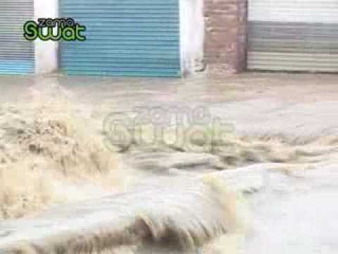 Flood In Swat Mingora Stream.flv video