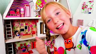 Katy pretend play with dolls LoL House - Riddles for kids
