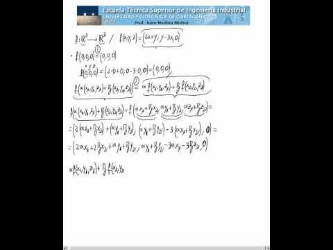 ¿Es aplicación lineal? 1