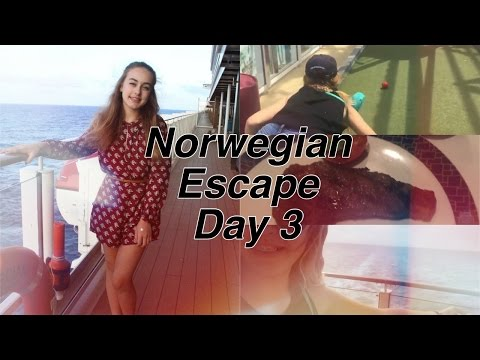 Norwegian Escape Cruise Vlog Day 3! #1