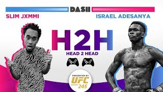 Israel Adesanya and Slim Jxmmi talk gaming and UFC 245
