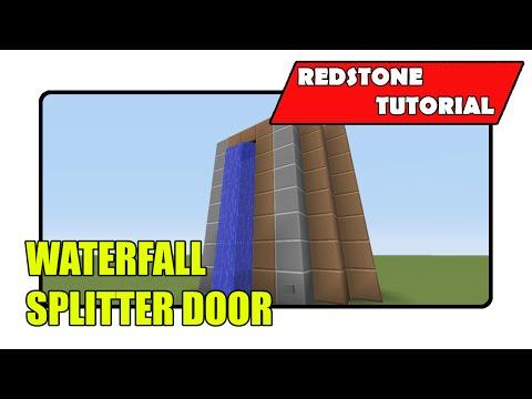 Waterfall Splitter Door Minecraft Xbox TU20 PlayStation CU8