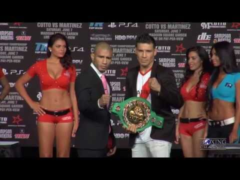 Miguel Cotto vs. Sergio Martinez - Final press conference