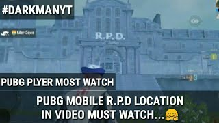 Pubg Mobile R.P.D Location In Video !! Most Watching Video...