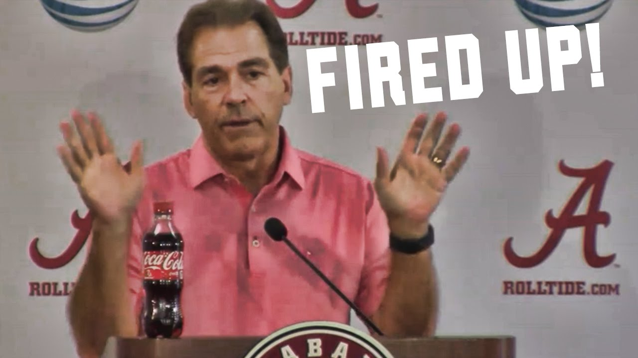 Heated Nick Saban gets fired up at media (10/5/2015)