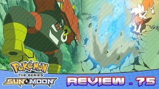 Ash's Lycanroc Learns Stone Edge! Lycanroc VS Tapu Bulu | Pokemon Sun & Moon Anime Episode 75 Review