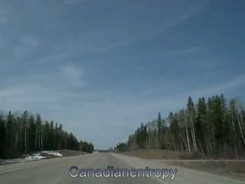 Red Deer, Alberta to Saskatchewan River Crossing, Alberta (Highway 11 Westbound) - time lapse