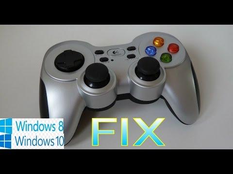 حل مشكله يد التحكم logitech f710 على windows 8 & 10 PC