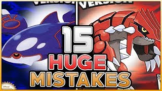 15 HUGE MISTAKES & GLITCHES In Pokemon Ruby And Sapphire (Generation 3)