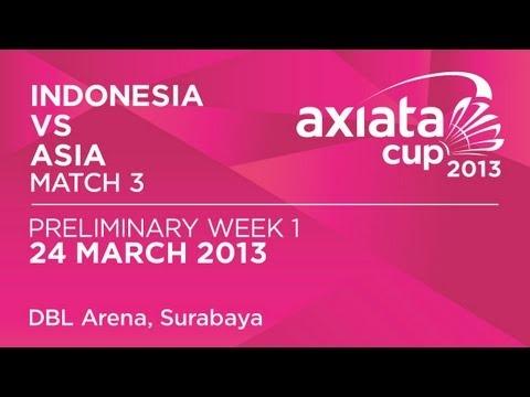 Round 1 - XD - M.Rijal /D.Susanto (INA) vs T.Kona /A.Ponnappa (ASIA) - Axiata Cup 2013