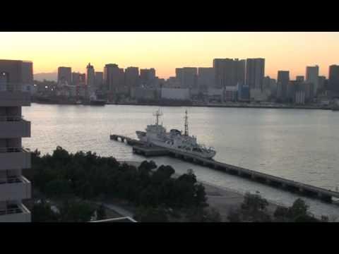 Maritime port operations along Tokyo Harbor