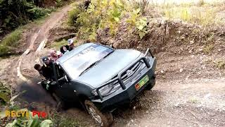 Slippery Roads Accidents Extreme 4x4 Offroad Truck In Mountain Road