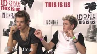 Harry Styles & Niall Horan from One Direction talk This is Us with KISS FM (UK)