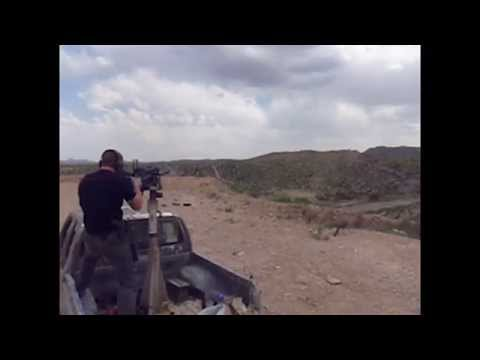 Private Security Contractor Shooting MK19 Grenade Launcher In Afghanistan.
