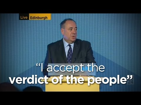 Alex Salmond accepts defeat