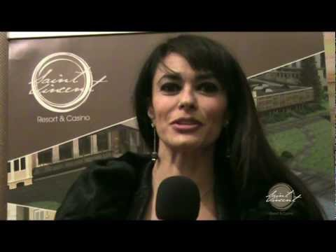 Maria Grazia Cucinotta alla serata di Gala del Saint-Vincent Resort &amp; Casino