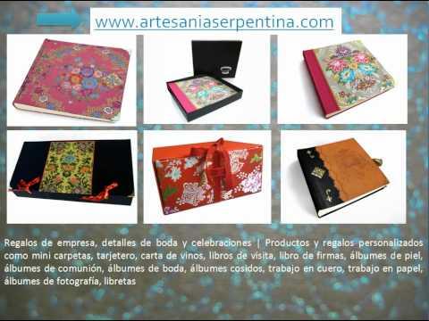 Encuadernación, álbumes de fotografía, regalos de empresa.avi