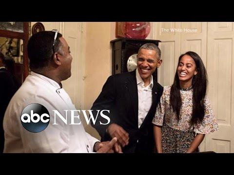 Malia Obama Steps In for Dad