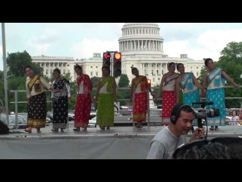 Dance Sao Lao Lanxang (Women of Lanxang) performed by the LAWA & SDT for 2010 National Asian Heritage festival - 5th Annual Fiesta Asia in Washington DC on M...
