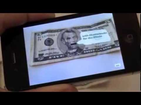 Chatterbucks - Markerless AR app for the iPhone *New Multi-Currency Version*