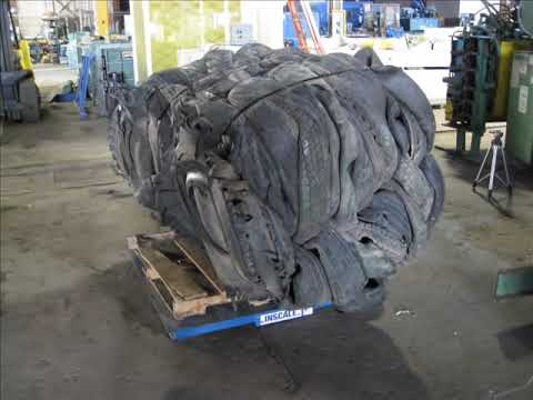 Tire Baling with Hydraulic Tire Baler REC7242 TB