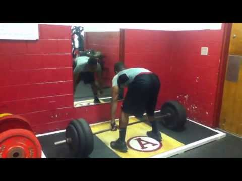 Sylvester Harris #6 of abbeville high school sc power clean 205 5x