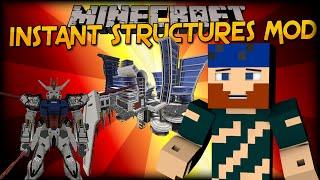 Minecraft | Mod Showcase | INSTANT STRUCTURES MOD (ISM)