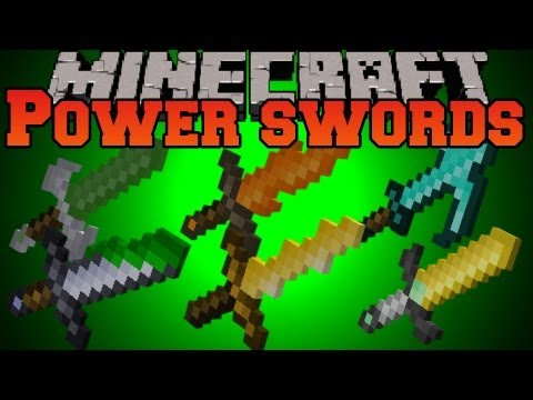 Minecraft Mod Showcase - Power Swords Mod - Mod Review