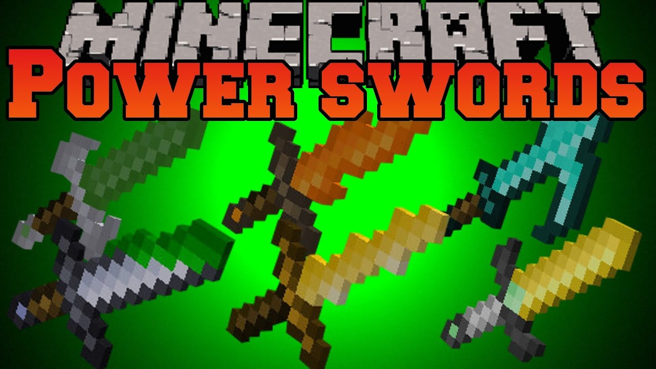 Minecraft Mod Showcase Power Swords Mod Mod Review