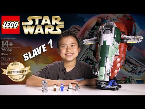 LEGO SLAVE 1 - LEGO Star Wars UCS Set 75060 Time-lapse. Stop Motion. Unboxing & Review