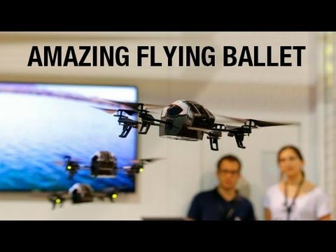 The Amazing AR.Drone 2.0 Flying Ballet - CES 2013
