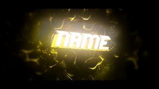 FREE After Effects & Cinema 4D Intro Template: Yellow 3D Sync Intro Template #397 + Tutorial
