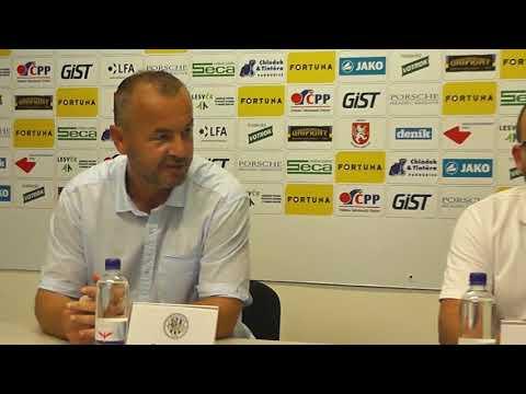 Tisková konference po utkání FC Hradec Králové - FC Sellier & Bellot Vlašim