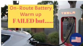Failed Tesla Model 3 On-Route Battery Warmup Test but