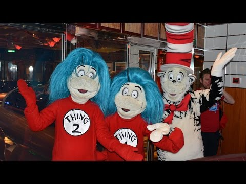Carnival Freedom Seuss at Sea Character Photo Greet w/Cat in Hat, Thing 1 & Thing 2, Sam I Am