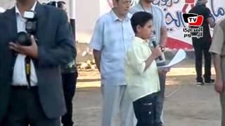 قرآن وإنجيل فى طابور الصباح بمدرسة ببنى سويف