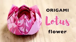 Easy Origami Lotus Flower Tutorial ♥︎ Instructions  ♥︎ DIY ♥︎