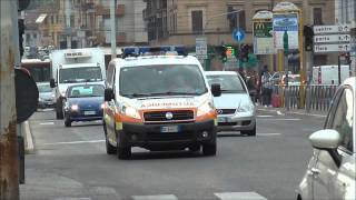 (Ancona) 10x Italian Emergency Vehicles Responding to Autobus Road Accident