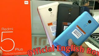 Hindi | Redmi 5 Plus Blue (Official English Box) 32GB 3GB Redmi 5 Plus Black