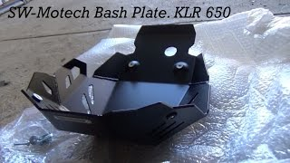 Fitting an SW-Motch bash plate to the KLR 650, and the Air Hawk seat