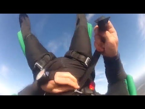 How not to panic when skydiving goes wrong