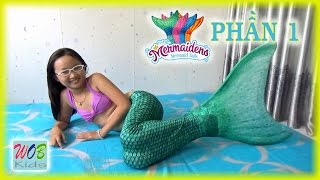 The Fin Fun Mermaid Tail ! Ước mơ Nàng Tiên Cá với Bảo Nhiên Phần 1 ! WOB Kids !