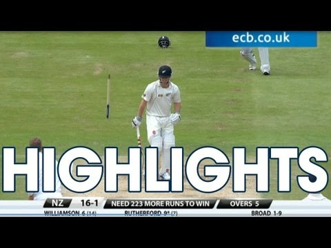 Ten wickets! Highlights England v New Zealand - Day 4 Morning Session ...